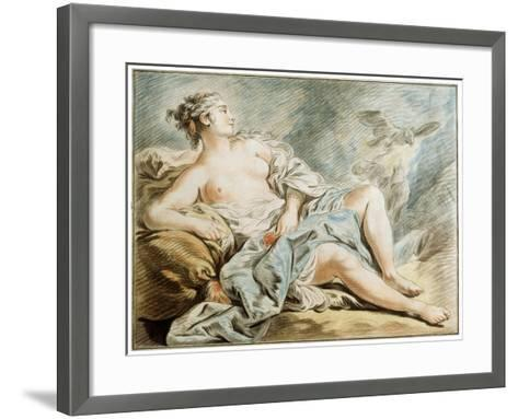 Venus with Doves, 18th Century-Louis Marin Bonnet-Framed Art Print
