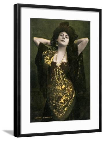 Norma Whalley, Australian Actress, Early 20th Century-Miller and Lang-Framed Art Print