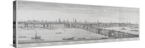 London Bridge, London, 1749-Nathaniel Buck-Stretched Canvas Print