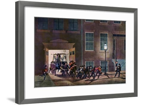 The Night Alarm, the Life of a Fireman, 1854-Nathaniel Currier-Framed Art Print