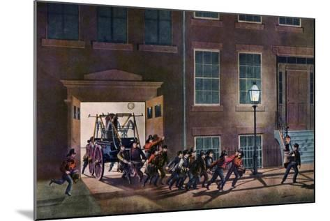 The Night Alarm, the Life of a Fireman, 1854-Nathaniel Currier-Mounted Giclee Print