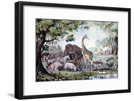 Adam Naming the Creatures, 1847-Nathaniel Currier-Framed Art Print