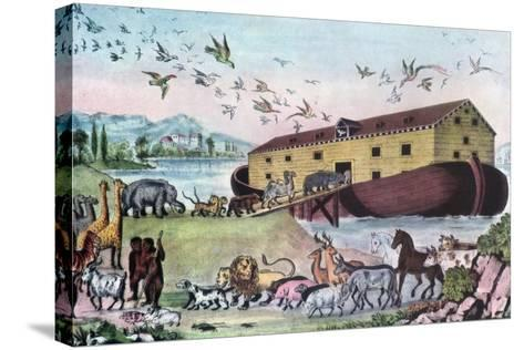 Noah's Ark, 19th Century-Nathaniel Currier-Stretched Canvas Print