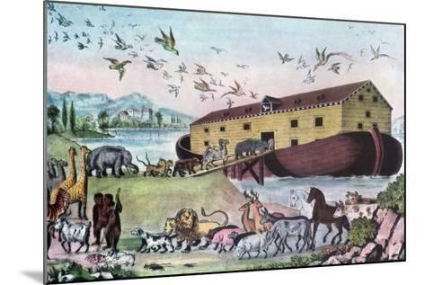 Noah's Ark, 19th Century-Nathaniel Currier-Mounted Giclee Print