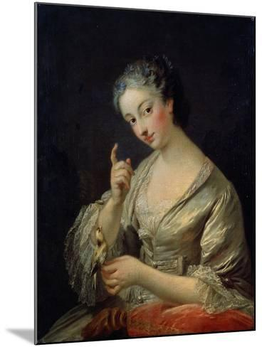 Lady with a Bird, 18th Century-Louis Michel Van Loo-Mounted Giclee Print