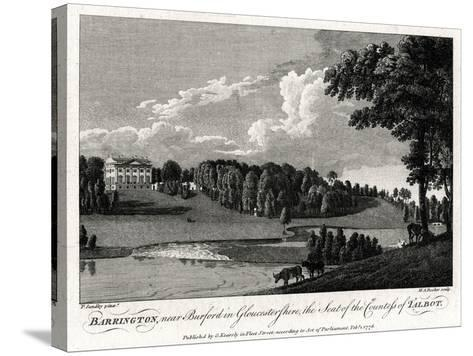 Barrington, Near Burford in Gloucestershire, the Seat of the Countess of Talbot, 1776-Michael Angelo Rooker-Stretched Canvas Print