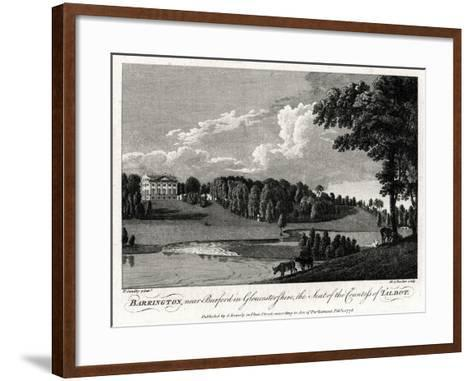 Barrington, Near Burford in Gloucestershire, the Seat of the Countess of Talbot, 1776-Michael Angelo Rooker-Framed Art Print