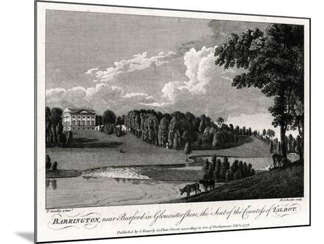 Barrington, Near Burford in Gloucestershire, the Seat of the Countess of Talbot, 1776-Michael Angelo Rooker-Mounted Giclee Print