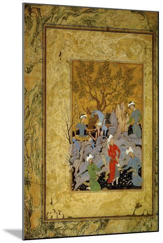 A Princely Hawking Party in the Mountains, C1575-Mirza Ali-Mounted Giclee Print