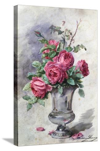 Vase of Flowers, C1865-1928-Madeleine Jeanne Lemaire-Stretched Canvas Print