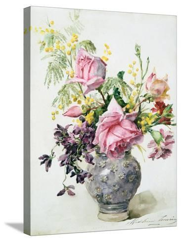 Vase of Roses, C1865-1928-Madeleine Jeanne Lemaire-Stretched Canvas Print