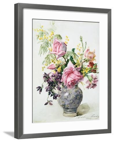 Vase of Roses, C1865-1928-Madeleine Jeanne Lemaire-Framed Art Print
