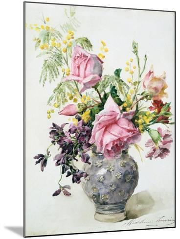 Vase of Roses, C1865-1928-Madeleine Jeanne Lemaire-Mounted Giclee Print