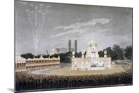 Firework Display in Green Park, Westminster, London, 1814-Matthew Dubourg-Mounted Giclee Print