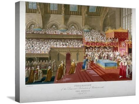 Coronation of King George IV, Westminster Hall, London, 1821-Matthew Dubourg-Stretched Canvas Print