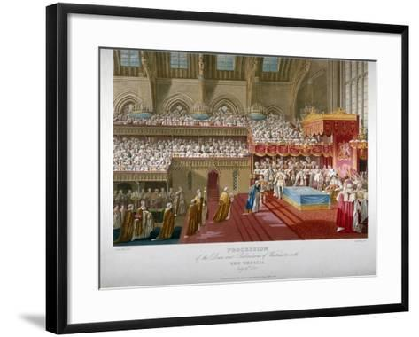 Coronation of King George IV, Westminster Hall, London, 1821-Matthew Dubourg-Framed Art Print