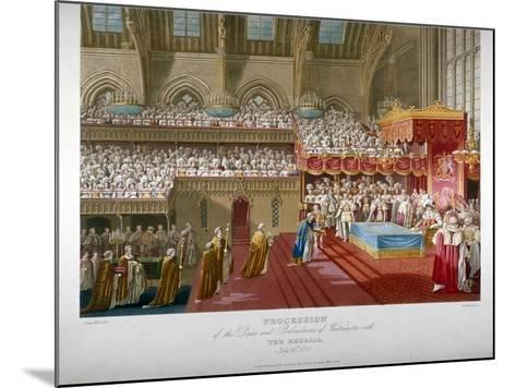 Coronation of King George IV, Westminster Hall, London, 1821-Matthew Dubourg-Mounted Giclee Print
