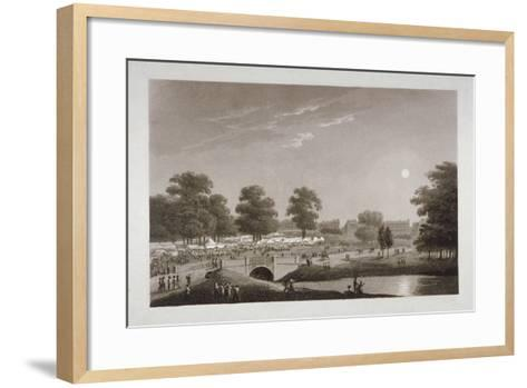 View of the Serpentine and Hyde Park, London, 1814-Matthew Dubourg-Framed Art Print