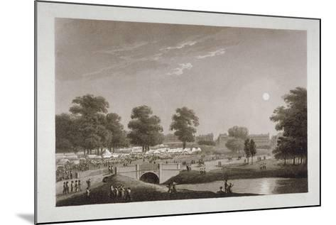 View of the Serpentine and Hyde Park, London, 1814-Matthew Dubourg-Mounted Giclee Print