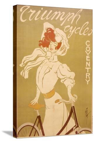 Poster Advertising Triumph Bicycles, 1907-Misti-Stretched Canvas Print