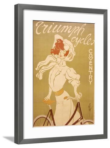 Poster Advertising Triumph Bicycles, 1907-Misti-Framed Art Print