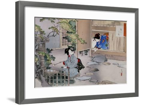 The Entrance to the Tea Rooms, C1886-1908-Mizuno Toshikata-Framed Art Print