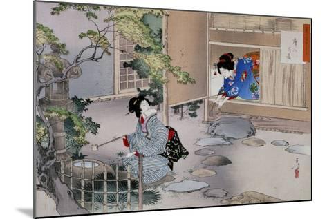 The Entrance to the Tea Rooms, C1886-1908-Mizuno Toshikata-Mounted Giclee Print