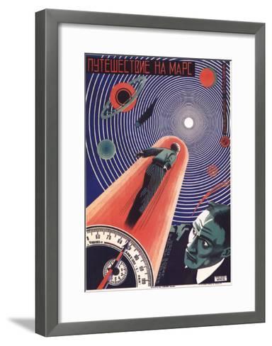 Poster for the Film Travel to Mars, 1926-Nikolaj Prusakov-Framed Art Print