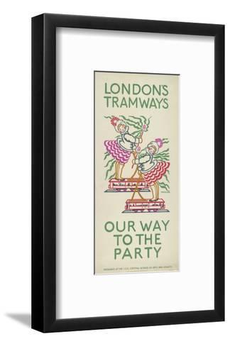 Our Way to the Party, London County Council (Lc) Tramways Poster, 1924-Maud Klein-Framed Art Print