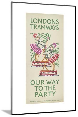 Our Way to the Party, London County Council (Lc) Tramways Poster, 1924-Maud Klein-Mounted Giclee Print