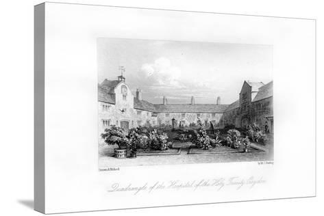 Hospital of the Holy Trinity, Croydon, 1840-MJ Starling-Stretched Canvas Print