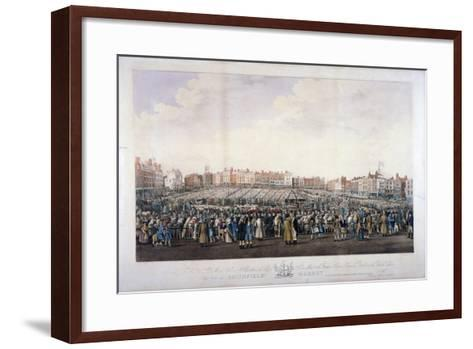 Smithfield Market, West Smithfield, City of London, C1825-Nathaniel Whittock-Framed Art Print