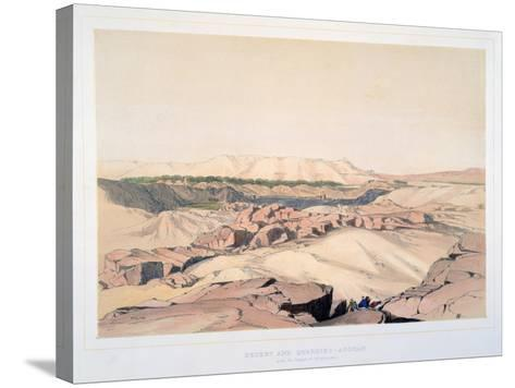 Desert and Quarries, Asouan, with the Island of Elephantine, Egypt, 19th Century-Lord Wharncliffe-Stretched Canvas Print