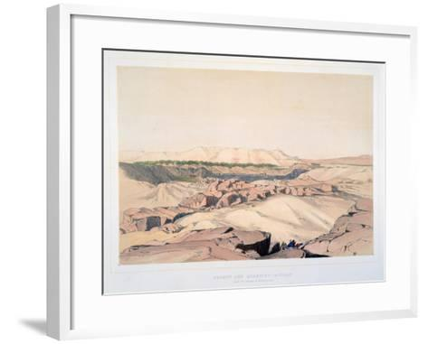Desert and Quarries, Asouan, with the Island of Elephantine, Egypt, 19th Century-Lord Wharncliffe-Framed Art Print