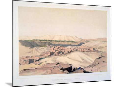 Desert and Quarries, Asouan, with the Island of Elephantine, Egypt, 19th Century-Lord Wharncliffe-Mounted Giclee Print