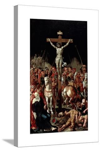 Calvary, Between 1545 and 1550-Maerten van Heemskerck-Stretched Canvas Print