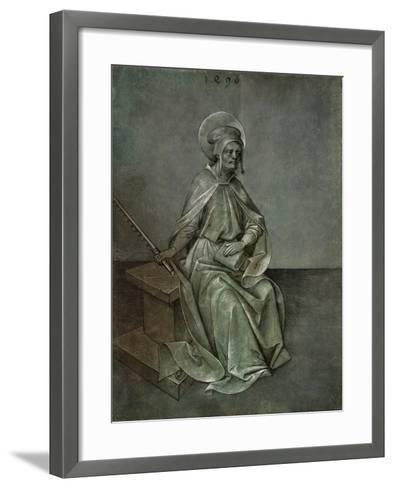 The Apostle Simon, 1496-Mair von Landshut-Framed Art Print