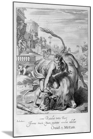 Achelous in the Shape of a Bull Is Vanquished by Hercules, 1655-Michel de Marolles-Mounted Giclee Print