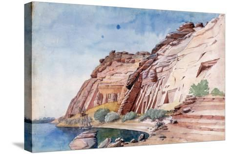 Abu Simbel, Egypt, 19th Century-Nestor l'Hote-Stretched Canvas Print