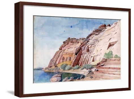 Abu Simbel, Egypt, 19th Century-Nestor l'Hote-Framed Art Print