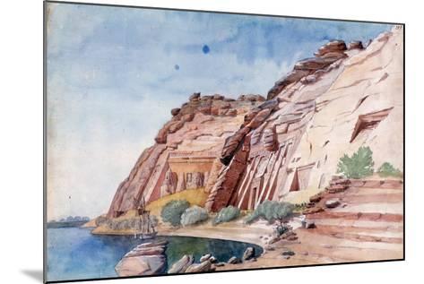 Abu Simbel, Egypt, 19th Century-Nestor l'Hote-Mounted Giclee Print