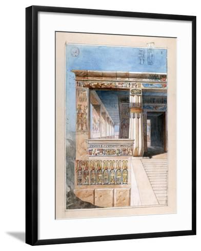 Ancient Egyptian Temple, 19th Century-Nestor l'Hote-Framed Art Print