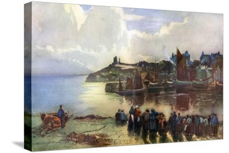 Tenby Castle and Harbour, Pembrokeshire, Wales, 1924-1926-Louis Burleigh Bruhl-Stretched Canvas Print