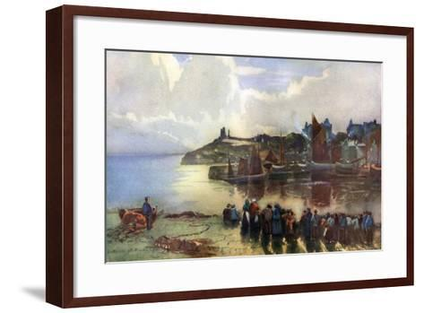 Tenby Castle and Harbour, Pembrokeshire, Wales, 1924-1926-Louis Burleigh Bruhl-Framed Art Print