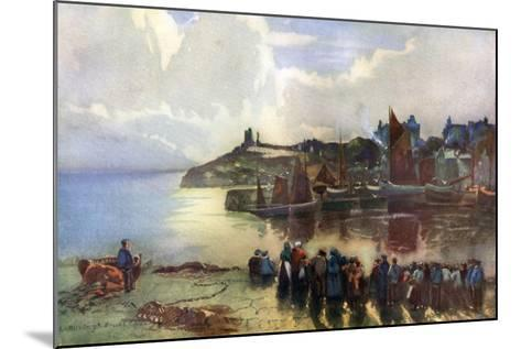 Tenby Castle and Harbour, Pembrokeshire, Wales, 1924-1926-Louis Burleigh Bruhl-Mounted Giclee Print