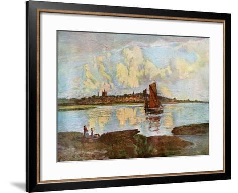 Maldon, from Heybridge, Essex, 1924-1926-Louis Burleigh Bruhl-Framed Art Print
