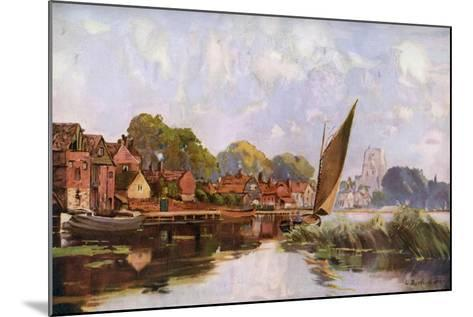 On the River at Beccles, Suffolk, 1924-1926-Louis Burleigh Bruhl-Mounted Giclee Print