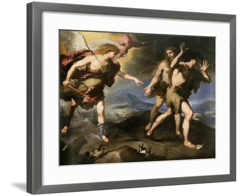 Expulsion from Paradise, Second Half of 17th Century-Luca Giordano-Framed Art Print