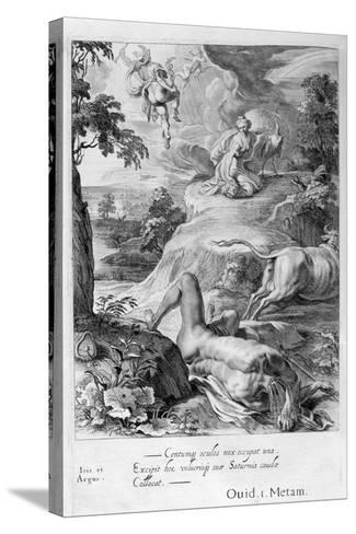 Io Changed into a Cow: Mercury Cuts Off Argus' Head, 1655-Michel de Marolles-Stretched Canvas Print