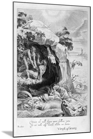 Aristeus Compels Proteus to Reveal His Oracles, 1655-Michel de Marolles-Mounted Giclee Print